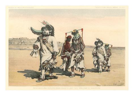 Hopi Katchinas Art Print