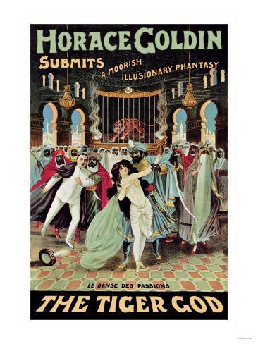 Horace Goldin, Magician: The Tiger God Art Print