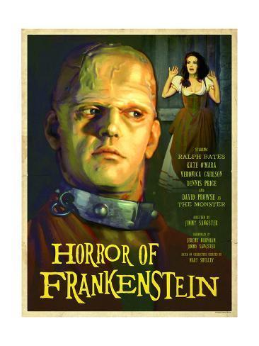 Horror of Frankenstein 1970 Stampa artistica