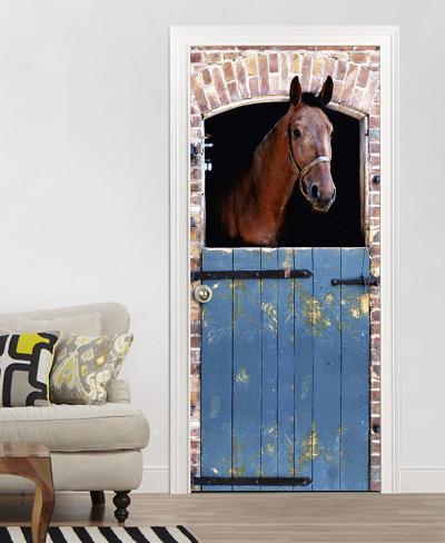 Horse Door Wallpaper Mural Tapettijuliste