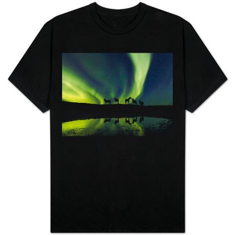 Horses under the Aurora Borealis T-Shirt