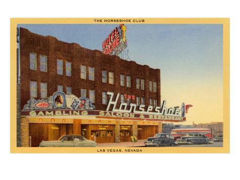 Horseshoe Club, Las Vegas, Nevada Art Print