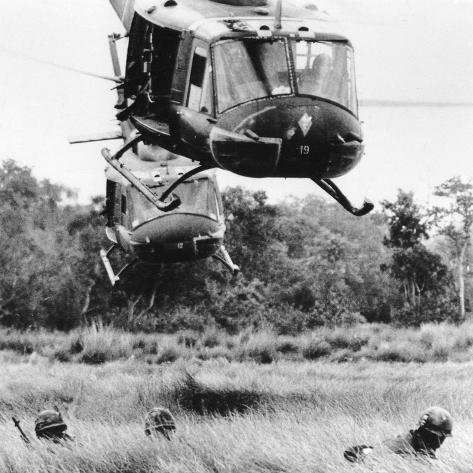 Vietnam War Helicopter Landing Photographic Print