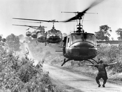 Vietnam War US Helicopters Photographic Print