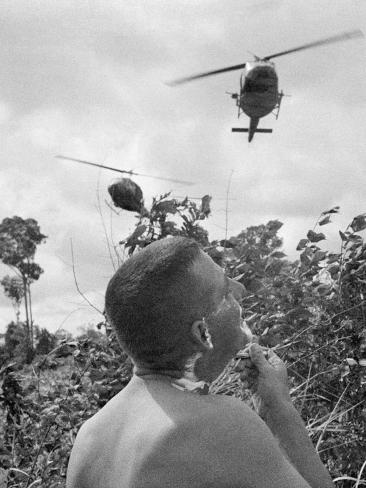 Vietnam War US Shaving Photographic Print