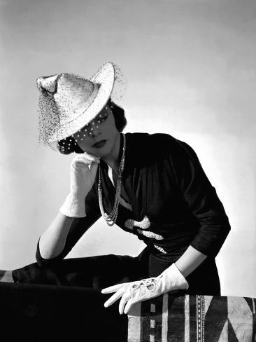 Vogue - March 1938 Stampa fotografica Premium