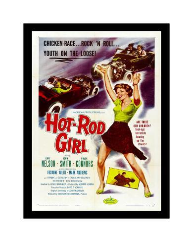 Hot Rod Girl Giclee Print