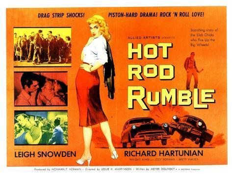 Hot Rod Rumble, UK Movie Poster, 1957 Premium Giclee Print
