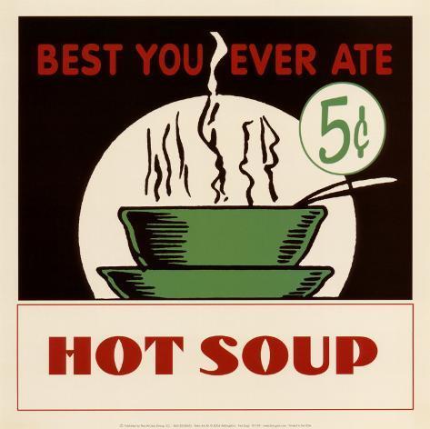 Hot Soup Art Print