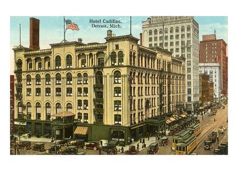 Hotel Cadillac, Detroit, Michigan Art Print