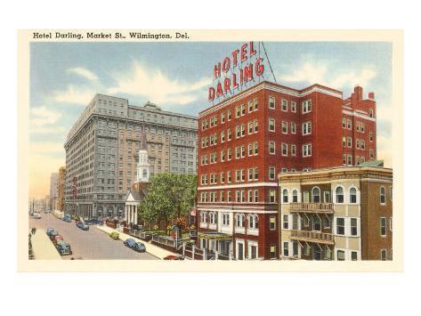 Hotel Darling, Wilmington, Delaware Art Print