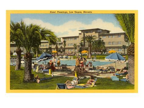 Hotel Flamingo Pool, Las Vegas, Nevada Art Print