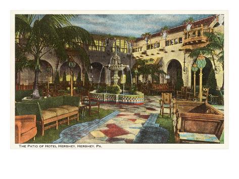 Hotel Hershey, Pennsylvania Art Print