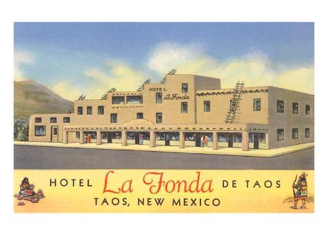 Hotel La Fonda in Taos, New Mexico Art Print