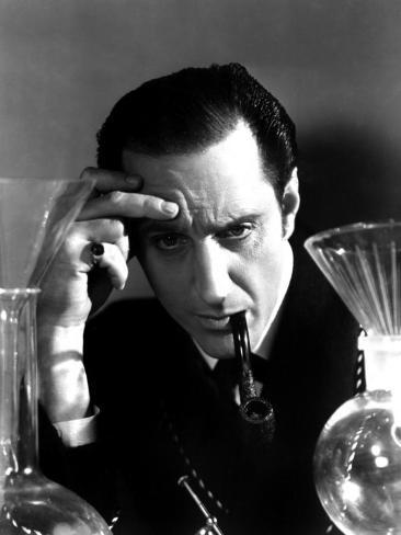 Hound of the Baskervilles, Basil Rathbone, 1939 Photo