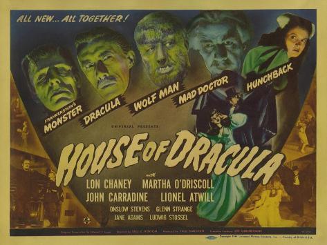 House of Dracula, 1945 Art Print