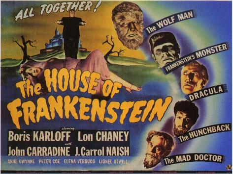 House of Frankenstein, 1944 Art Print