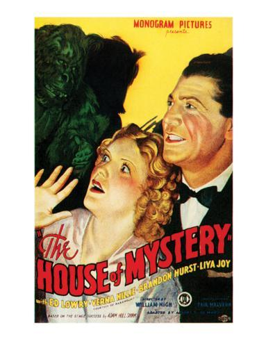 House Of Mystery - 1934 I Giclee Print