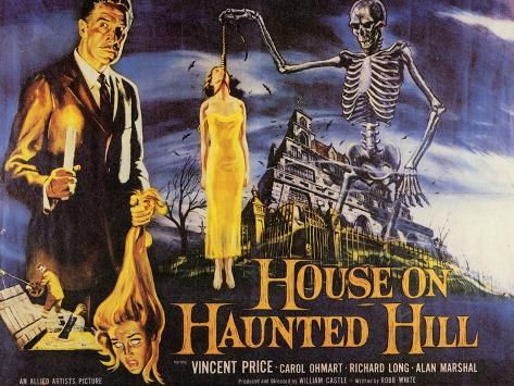 House On Haunted Hill, 1958 Art Print
