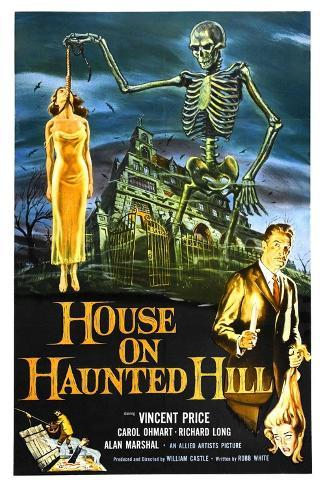 House on Haunted Hill, 1959 Gicléetryck