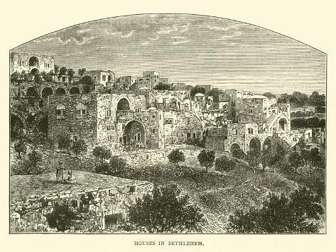 Houses in Bethlehem Lámina giclée