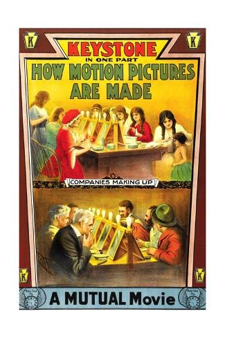 HOW MOTION PICTURES ARE MADE, poster art, 1914. Stretched Canvas Print
