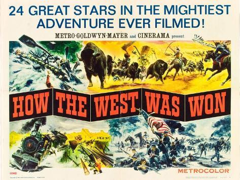 How the West Was Won, 1964 Art Print