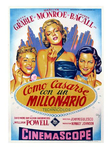 How to Marry a Millionaire, Betty Grable, Marilyn Monroe, Lauren Bacall, 1953 Photo