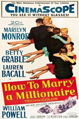 How to Marry a Millionaire Art Print