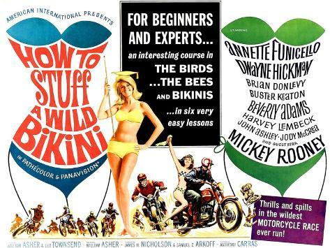 How to Stuff a Wild Bikini, half-sheet poster, 1965 Art Print
