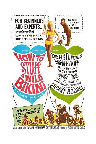 How to Stuff a Wild Bikini, Mary Hughes; Mickey Rooney, 1965 Art Print