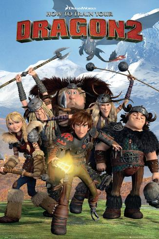 How to train your Dragon 2 - Cast Póster