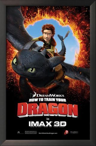 How to Train Your Dragon Impressão artística emoldurada