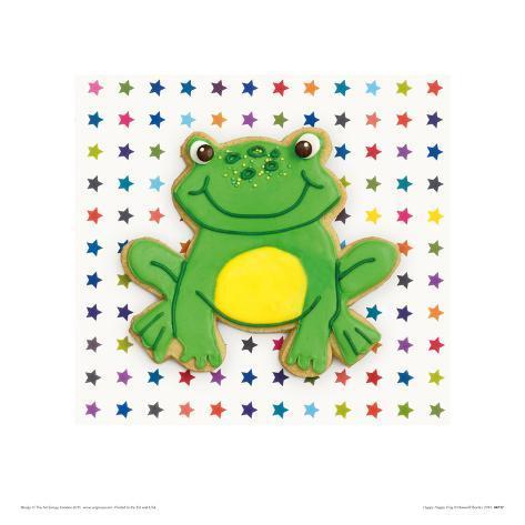 Happy Hoppy Frog Giclee Print