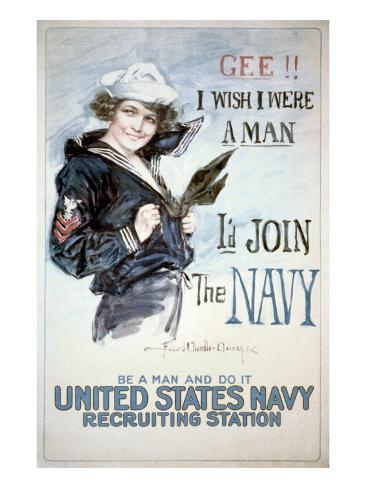 Gee!! I Wish I were a Man, circa 1918 Stampa artistica