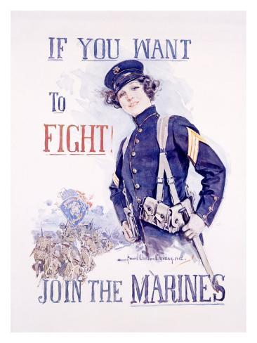 Join the Marines Giclee Print