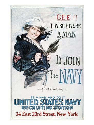 World War I: U.S. Navy Giclee Print