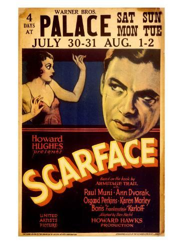 Howard Hughes presents Scarface Stampa giclée