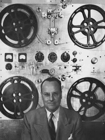 Vogue - February 1952 - Hollywood Sound Equipment Inventor Photographic Print