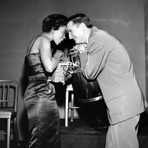 Josephine Premice, Bobby Troup - 1956 Photographic Print