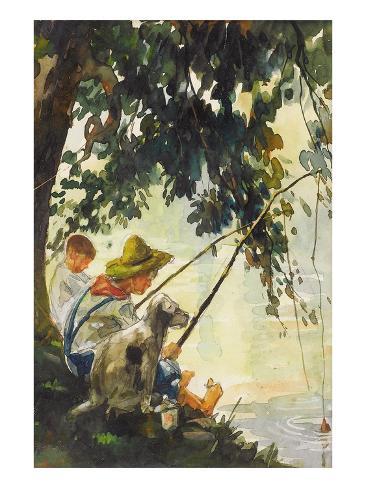 Tom Sawyer Fishing Art Print