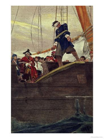 Walking the Plank, Engraved by Anderson Giclee Print