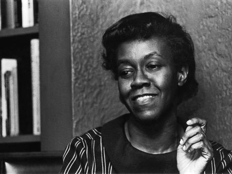 Renowned Poet Gwendolyn Brooks, May 1968 Photographic Print