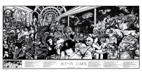 Sci-Fi Cafe Poster