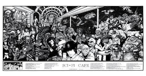 Sci-Fi Cafe Póster