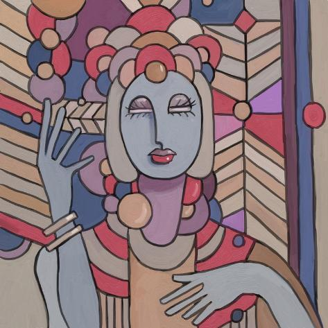 Pop deco lady 512 giclee print by howie green at for Pop deco