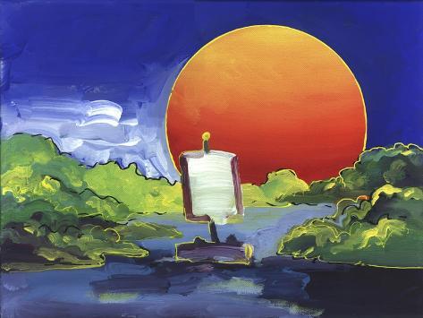 Sun Boat Stampa giclée