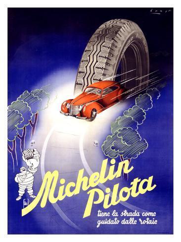 Michelin, Pilota, c.1930 Giclee Print