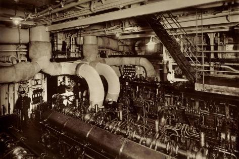 HSDG, Dampfer, M.S. Monte Sarmiento, Maschinenraum Giclee Print