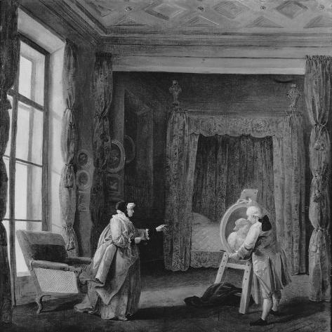 The Artist Presents a Portrait to Madame Geoffrin, 1773-74 Lámina giclée